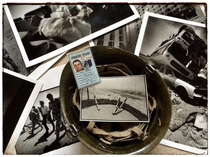 Gulf War Operation Desert Storm The Photojournalist - 2015 EyeEm Awards Iraqi Soldiers Helmet Monochrome Press Pass War Photographer Rpg Basra