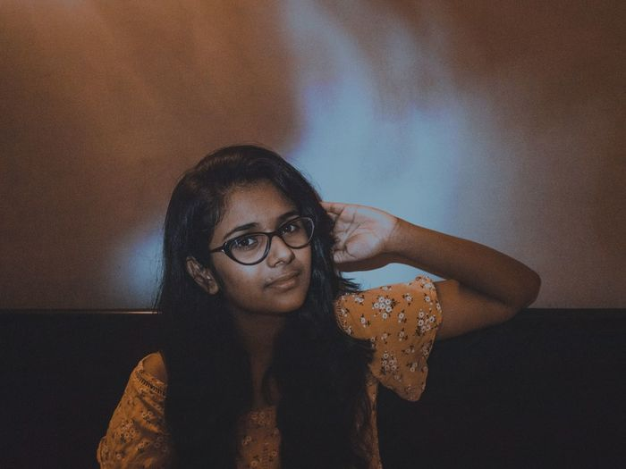 Mix Yourself A Good Time EyeEm Selects Eyeglasses  Close-up Young Adult One Person Indoors  Portrait Looking At Camera Adults Only Adult Only Women People Young Women Day