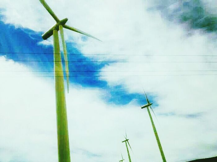 Wind turbines Oregon State Washington State On The Road Travelling