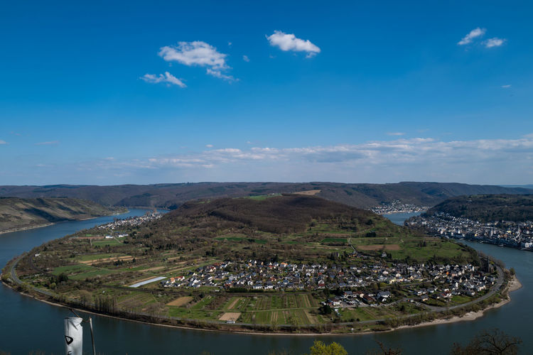 Boppard, Germany Sky Cloud - Sky Mountain Blue Architecture Nature Building Exterior Scenics - Nature Water Landscape Beauty In Nature Built Structure Day No People Environment City Building Outdoors Tranquil Scene Cityscape TOWNSCAPE