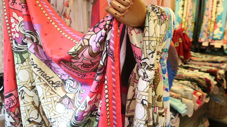 Accessories Close-up Colorful Day Display Fabric Fashion Fashion Fashion Photography Fashion Shop Fashionista Ladies Fashion Merchandising Multi Colored No People Outdoors Printed Retail  Retail  Retail Display Scarf Shopping Silk Textile Visual Merchandising