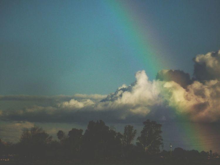 Pretty morning... Rainbow California Landscape Countryside Glamour Samsung Camera Skyporn Clouddrama End Of The Rainbow