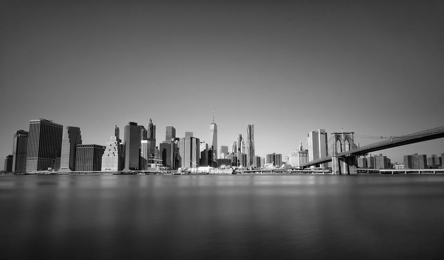 Bridge Longexposure Manhattan Skyline Slow Shutter Landscape_Collection Brooklyn Bridge / New York Landscape NYC Longexposurephotography NYC Photography Blackandwhite Black & White Blackandwhite Photography City Manhattan New York W