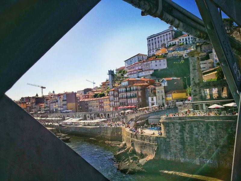 Portugal Porto Portugal 🇵🇹 Porto Ribeira Douroriver Douro  Travel Destinations Architecture Ponte Luis I Sunnyday☀️ Love Traveling Outdoor Photography