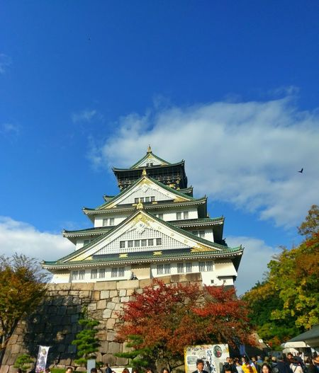 Architecture Cloud - Sky Travel Destinations Built Structure Sky History Building Exterior Tree Low Angle View Day Outdoors No People City OSAKA Osaka,Japan Osaka Castle أوساكا اليابان قلعة أوساكا