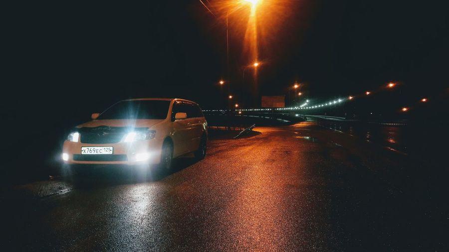 Illuminated Water Car Wet Headlight