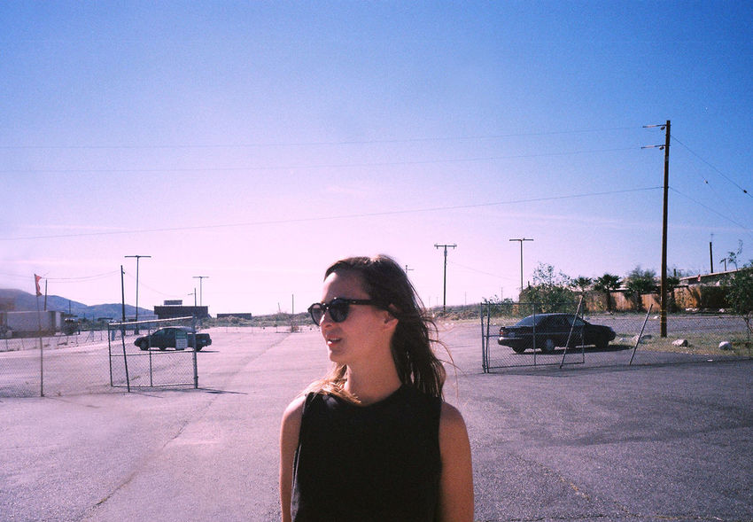 Adventure Buddies Traveling Daydreaming 35mm Film Analog Filmisnotdead California Pink Sky Location Scouting Staybrokeshootfilm Ontheroad Portrait Of A Friend Parking Lot Pastel Power