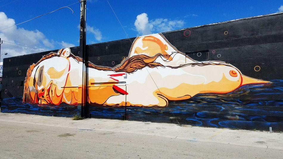 Sky Cloud - Sky Outdoors Illuminated Grafiti Art Wallpaint