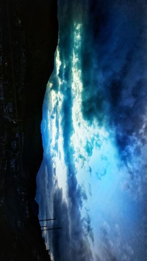 Water Power In Nature Mountain Blue No People Night Outdoors Nature Sea Waterfall Wave Sky Astronomy Cloud - Sky