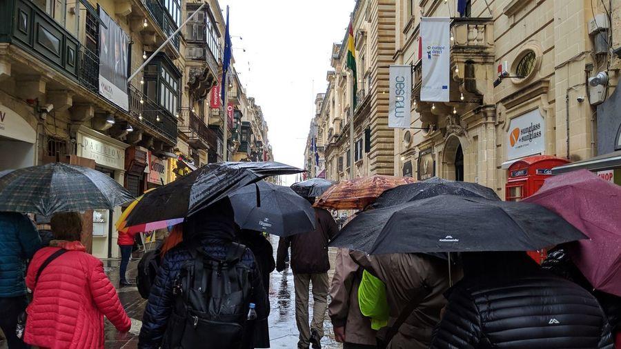The rain. Malta