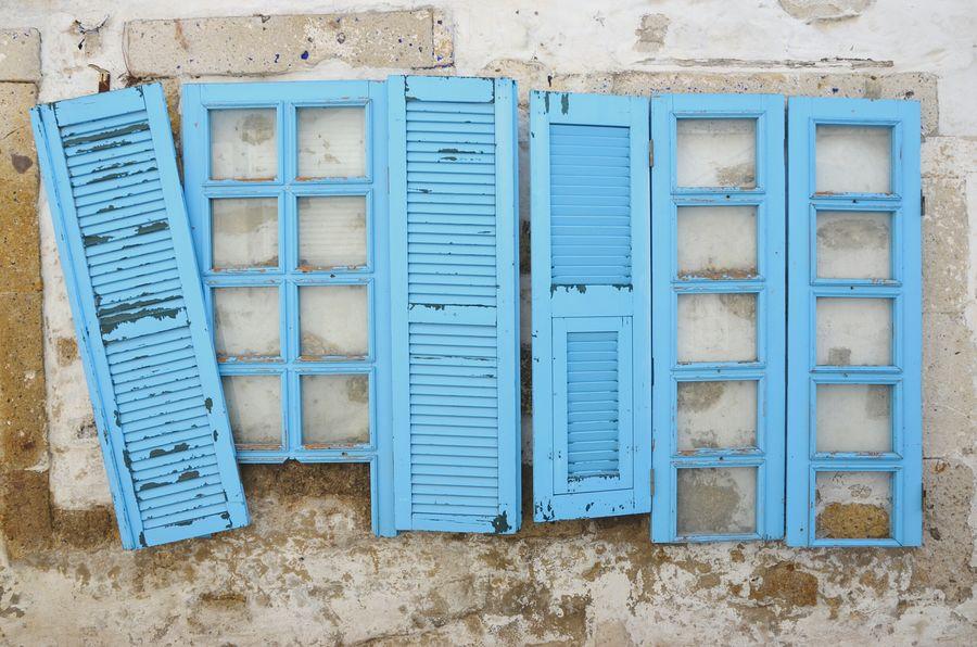 Blue Built Structure Building Exterior Architecture Outdoors Shutter Window Frame Window Windows Wall