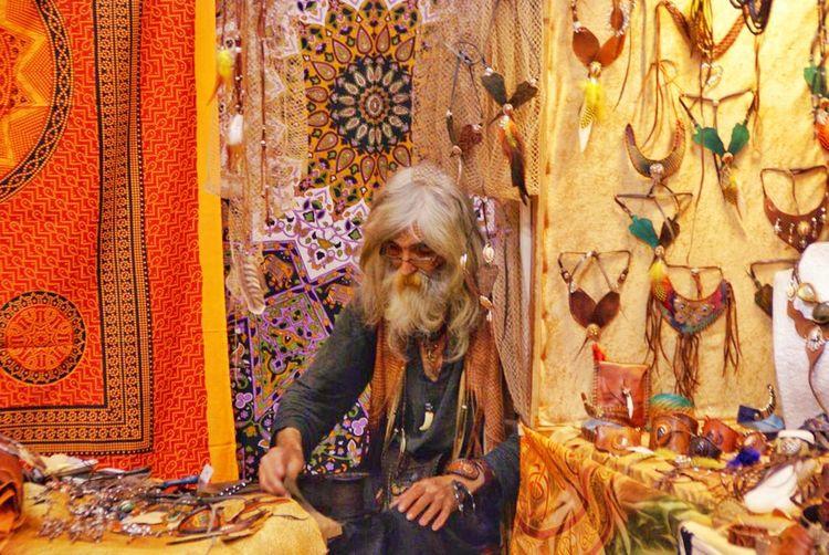 Sadhu selling souvenirs