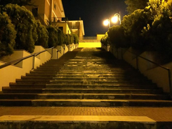 Stairway to something Road Yellow Stairs Nightphotography Night Evening Takenbyiphone TakenByIphone6 Stairway Staircase