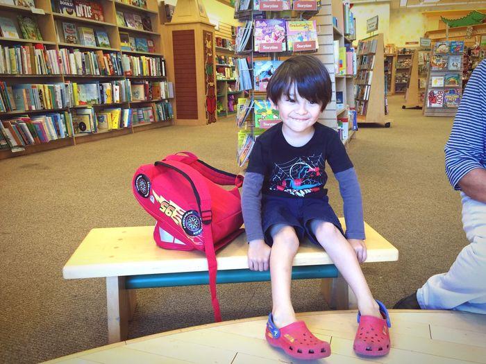Little Aaron loves to read!
