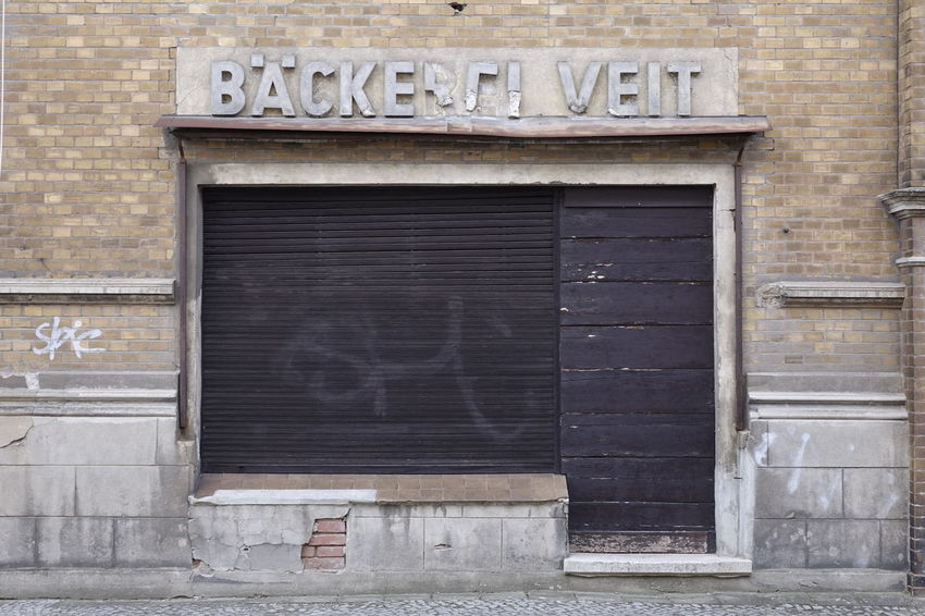 Backerei Veit Abandoned Places Architecture Bakery Building Exterior Built Structure Close-up Closed Day Nameplate No People Outdoors Text Window Wood - Material