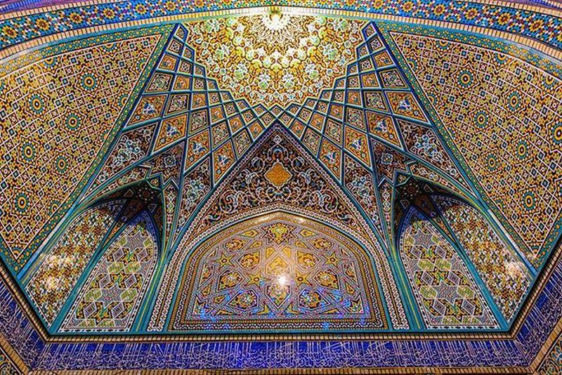 Art work at Bibi Masooma a.s Qom Persianart Iran Acrylic Mosaic Wall Qom Qum Persia Ghalibhasnainphotography