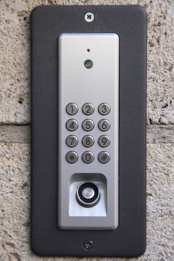 House entrance security keypad Access Alarm Button Camera Code Control Day Door Electronics  Entrance Entry Home Identification Key Keyboard Keypad Lock Number Password Protection Safety Security System Technology Wireless Technology