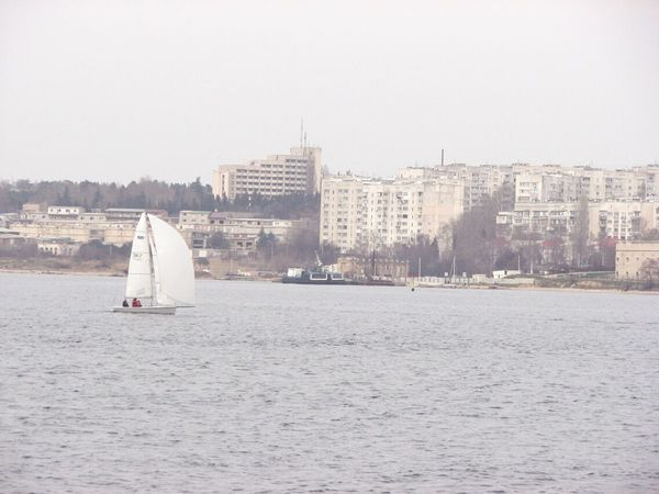 Sailboat Nautical Vessel Sailing Sport Water Sea City Outdoors Day No People Cityscape Sailing Ship Yacht Sky Yachting