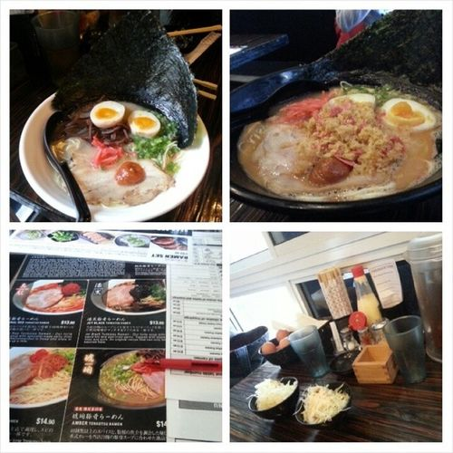 Awesome Dinner at Ramen Bar Suzuki with bestie @triciazayn Will come back again hehe. My Sakura Pink Ramen taste abit salty though cos of the xia mi but is still good. Pure White Ramen ordered by @triciazayn taste superb . 👍👍👍 YumYum Ramenbarsuzuki Oneofthebestramenrestever Bestservice bestfood hahah yay birthdaydinnertreat dinner thursday dateout