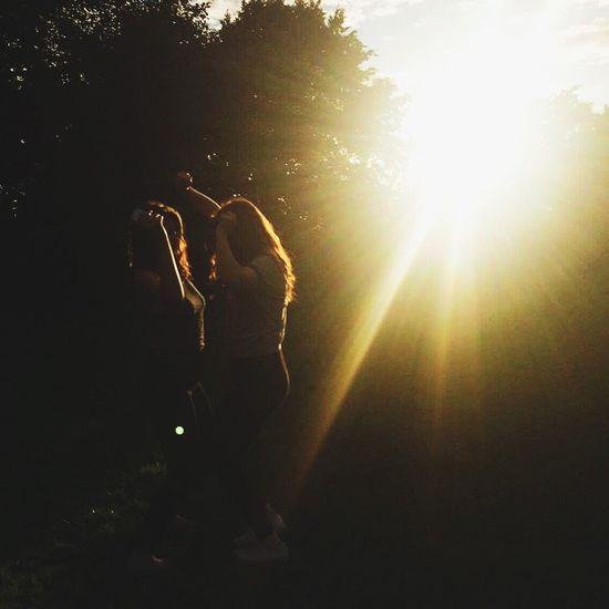 Sunlight Sun Person Lens Flare Lifestyles Sunbeam Outdoors Bright Bestfriend Summer First Eyeem Photo