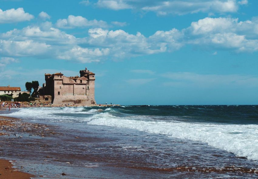 castello di Santa severa Landscape Fortress Medieval EyeEm Gallery Travel Art Passion Beautiful Tourist Sky Nature Relax EyeEm Eyeemgallery Inspirations Water Wave Sea Beach Castle Sand Fort History Old Ruin City