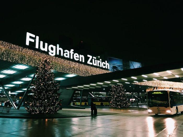 Zurich Airport at Christmas Christmas Lights Zurich, Switzerland Airport Night Illuminated HUAWEI Photo Award: After Dark Architecture Zurich, Switzerland Airport Night Illuminated HUAWEI Photo Award: After Dark Architecture