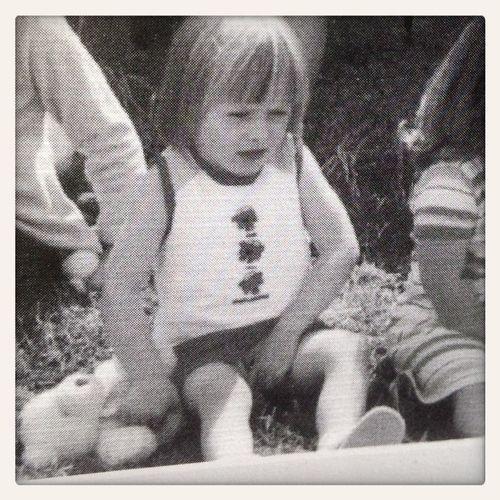 My sister when she was little. Awwww bless. Hehe x x