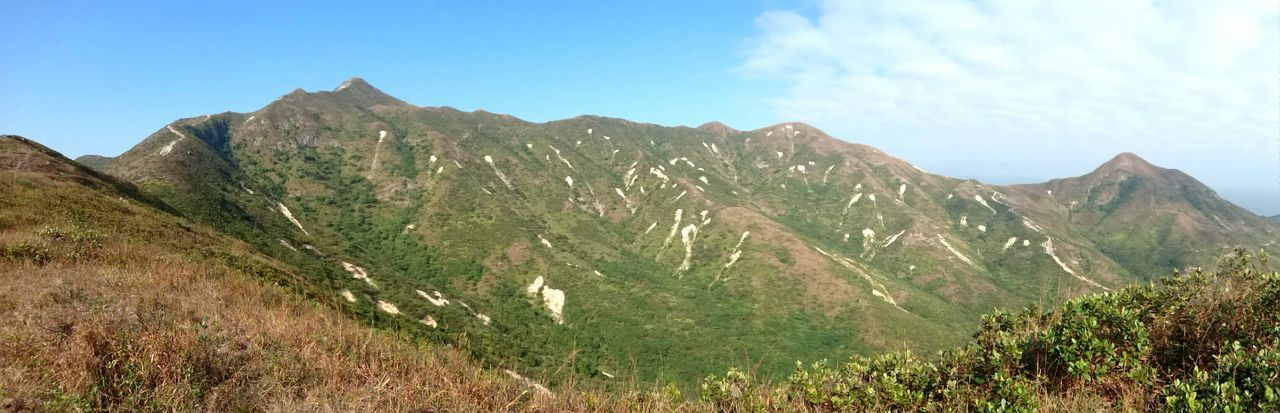 Mountain Landscape Blue Hiking Nature No People Travel Destinations Beauty In Nature Panoramic Outdoors Day Country Road Mountains Serenity Nature_collection Hong Kong Sunny Beauty In Nature Hiking Scenics Countryside Clouds And Sky Blue Sky Panorama