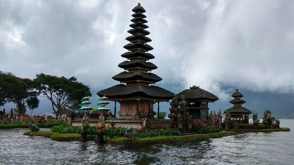 Religion Spirituality Architecture Pagoda Water Built Structure Travel Place Of Worship Travel Destinations Tradition Cloud - Sky No People Outdoors Bali, Indonesia Xiaomiphotography Bali Landscape Travel