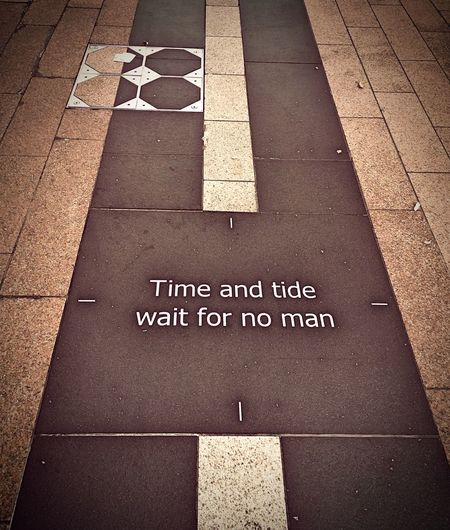 Time To Reflect Time And Tide Proverbs Words Words Of Wisdom... Looking Down Ground The O2 North Greenwich London