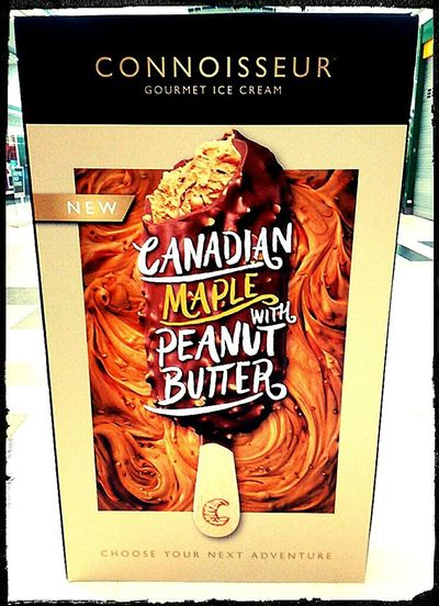 Connoisseur Canadianmaple Sign Ice Cream Gourmet Ice Cream Poster Peanut Butter Canadian Maple SignSignEverywhereASign Peanutbutter Advertising Signs