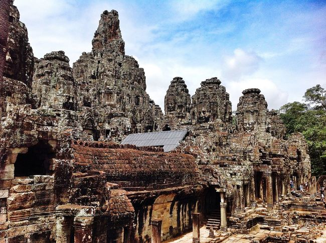 Behold Bayon Architecture Outdoors No People Built Structure Angkor Thom Cambodia Ancient Architecture Travel Photography Travel Angkor Siem Reap Ancient Temple Ancient Civilization Temple Bayon The Week Of Eyeem Neighborhood Map