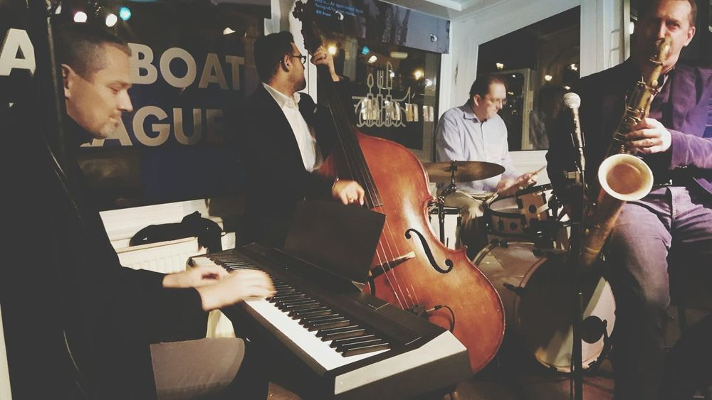 Musical Instrument Music Small Group Of People Guitar Musician Bass Instrument Happy Hour Nightlife Jazzband Jazzboat World Piano Day 2017,