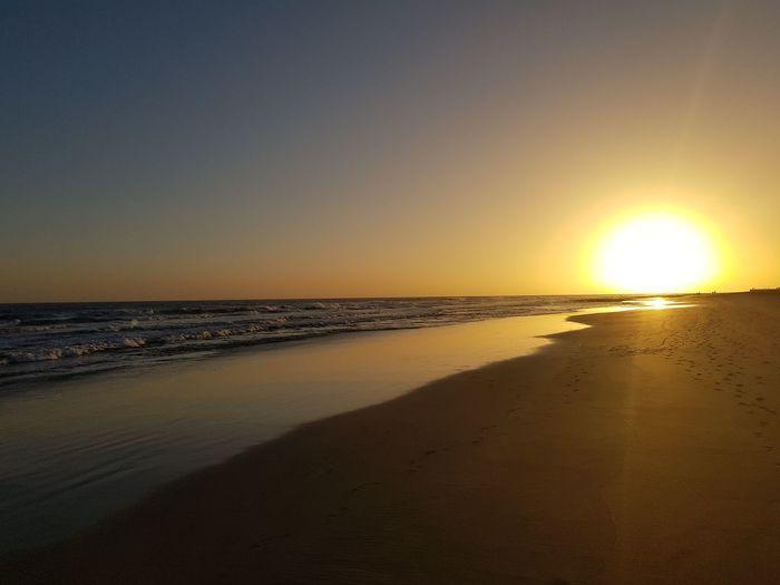 Sand Dune Water Wave Low Tide Sea Sunset Beach Horizon Sand Summer