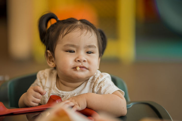 Eyeem Philippines The Week on EyeEm Baby Babyhood Child Childhood Close-up Cute Front View Headshot Indoors  Innocence Looking One Person Portrait Real People Selective Focus Sitting Young