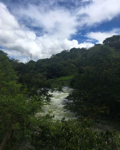 Nature Beauty In Nature Scenics Sky Tree Waterfall Outdoors No People Water Cloud - Sky Tranquility Travel Destinations Forest Day Mountain Power In Nature