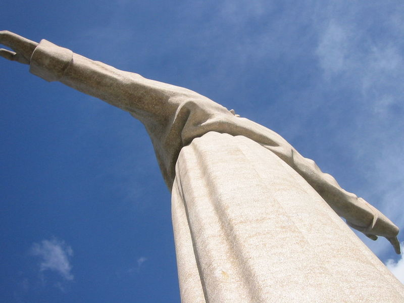 Architecture Christ The King Cristo Rei (Portugal) Day Low Angle View No People Outdoors Sky First Eyeem Photo