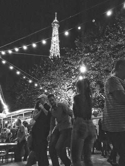 Blackandwhite Paris, France  Eiffel Tower Dancing
