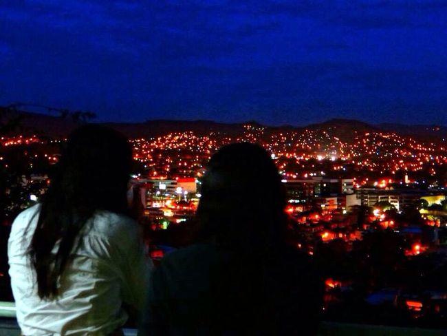 Beautiful Night Lights Hanging Out Paradise