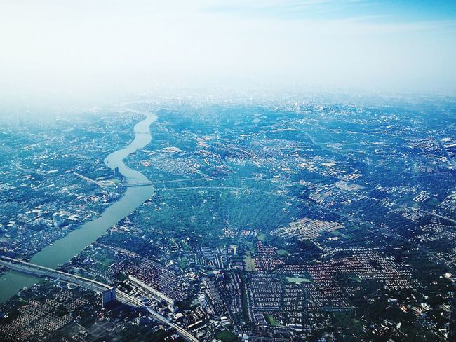 """"""" I N T H E S K Y """" A Bird's Eye View Bangkok Thailand. We Fly Smiles Office Window My World ♥ Love To Take Photos ❤ On The Way Love Is In The Air River View Jaow Praya River Mook Flying High"""