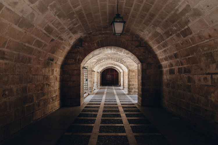 Architecture Arch Built Structure Direction The Way Forward The Past No People History Brick Indoors  Wall Old Building Brick Wall Wall - Building Feature Day Pattern Absence Arched Ceiling