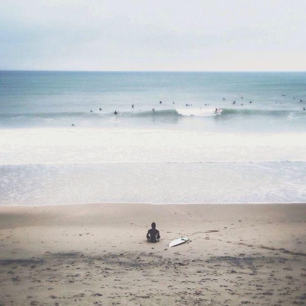 Meditation... Surfing Sea Praying Clara Filter