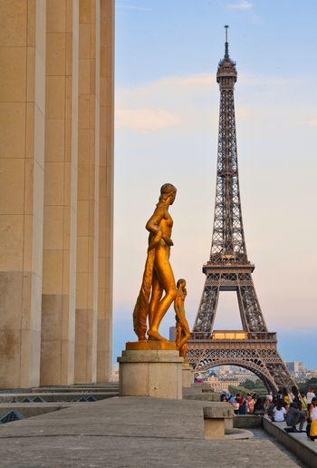 Eiffel Tower Paris Paris, France  Tour De Eiffel Architectural Column Architecture Built Structure City Day Eiffeltower History Memorial Metal Monument Outdoors Sculpture Sky Statue Tall - High The Past Tourism Tower Travel Travel Destinations