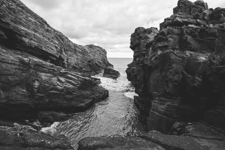Beauty In Nature Cliff Day Nature No People Outdoors Physical Geography Rock - Object Rock Formation Scenics Sea Sky Tranquility Water