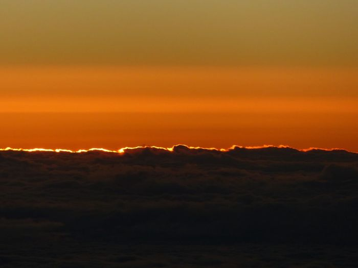Atmosphere Atmospheric Mood Beauty In Nature Cloud Cloud - Sky Cloudscape Cloudy Dramatic Sky Flying Sky High From Above  Horizontal Symmetry Majestic Moody Sky Orange Color Outdoors Overcast Silhouette Sky Storm Cloud Sunset Tranquil Scene
