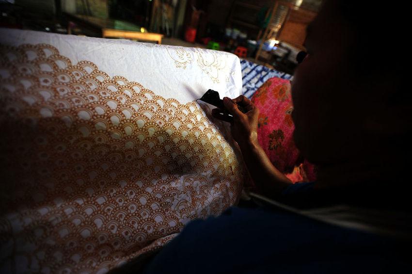 batik lasem No People Illuminated Table Pork Preparation  Textile Focus On Foreground Close-up Food And Drink Indoors  One Animal Animal Freshness Food Day Drink