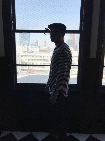 Sillouette Fashion Mensfashion Gay Ace Hotel Los Angeles, California Window Indoors  Looking Through Window One Person Silhouette Day California Dreamin Real People Young Adult Lifestyles Adult Adults Only Standing One Man Only Built Structure Only Men Men People Architecture Cityscape Window Washer The Street Photographer - 2018 EyeEm Awards