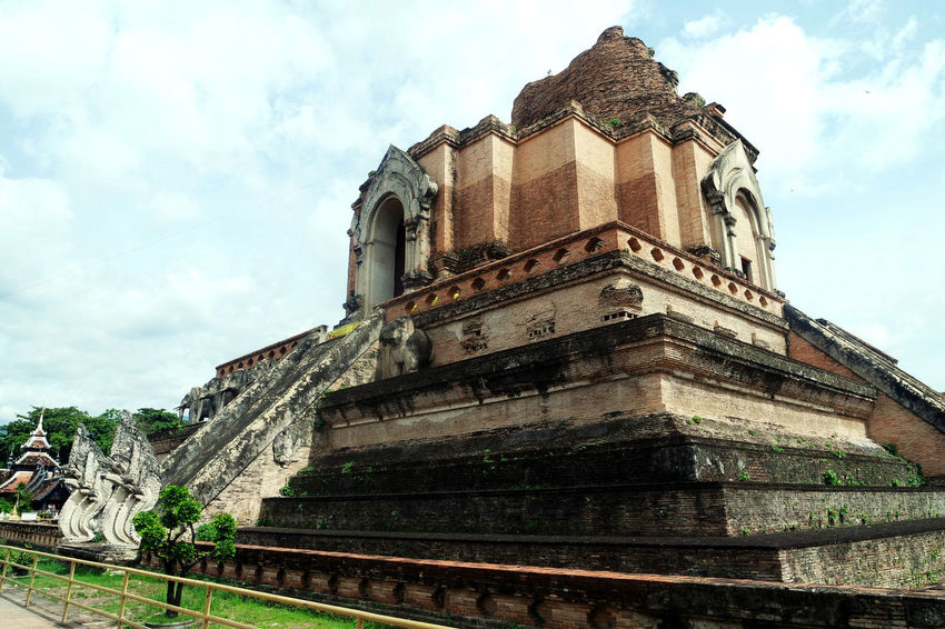 Ancient Ancient Civilization Architecture Building Exterior Built Structure Cloud - Sky Day History Low Angle View No People Outdoors Pagoda Religion Sky Thailand Travel Destinations