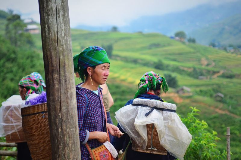 Quietly resting lady from the Sapa valley, on day two of the Trek. Wearing only flip flops the village ladies' assistance to the trekkers walking the valley slippery and muddy hills was precious. Rice Paddy Sapa Vietnam Terraced Field Outdoors Nature Mountain Nikon D610 Nikkor35-70f2.8