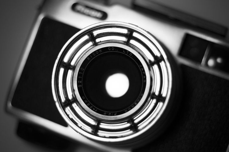 Close-up Detail Directly Above Lens Old Lens Photo Photography Photography Equipment Retro Retro Style Ricoh Rikenon